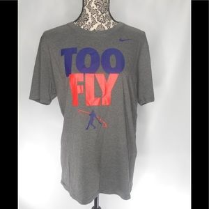 The NIKE TEE Too Fly Mens Gray T Shirt Graphics